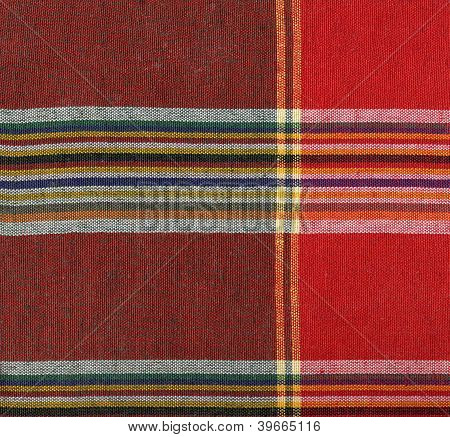 Red Square Fabric Pattern