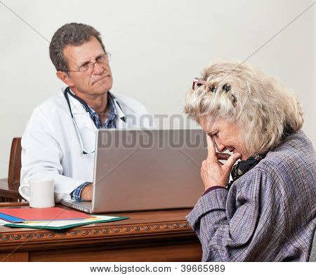 Patient Gets Bad News At The Doctor's Office