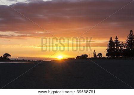 Brilliant sunrise.