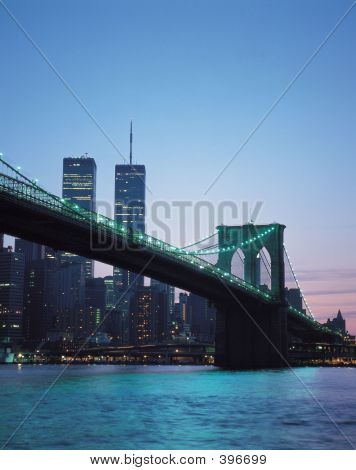 Twin Towers With Bridge