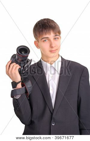 Teenager With Camera