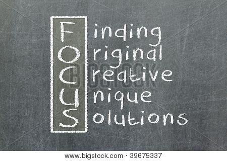 Focus Acronym