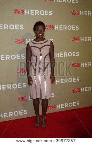 LOS ANGELES - DEC 2:  Viola Davis arrives to the 2012 CNN Heroes Awards at Shrine Auditorium on December 2, 2012 in Los Angeles, CA