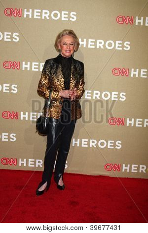 LOS ANGELES - DEC 2:  Tippi Hedren arrives to the 2012 CNN Heroes Awards at Shrine Auditorium on December 2, 2012 in Los Angeles, CA