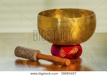 Sound Bowl On A Table