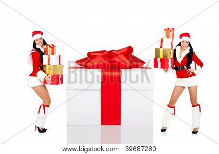 Santa girl creative design