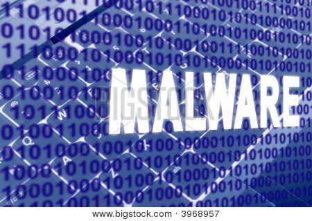 Malware Text über Binärcode