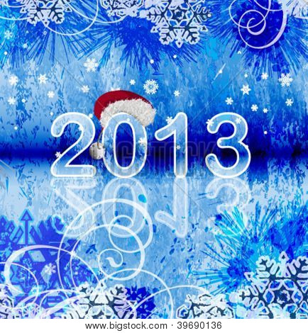 2013 - New year background. This illustration is an EPS10 file and contains several transparencies blend wich its easily editable in separate layers. Vector illustration scale to any size.