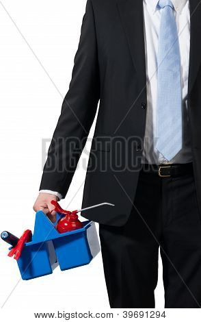 Businessman And His Tools