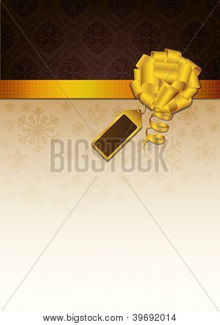 Abstract golden ribbon and vector background