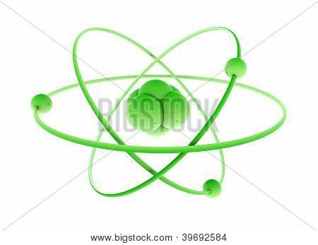 Green Atom Isolated On White