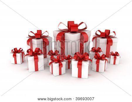 Celebration background gift boxes