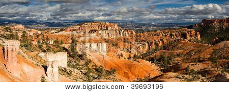 Panorama Of Bryce Canyon In The Later Afternoon