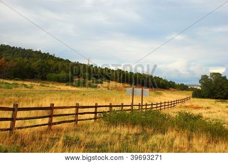 wooden ranch fence in the west