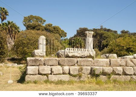 Archaeological site on Kos island, Greece
