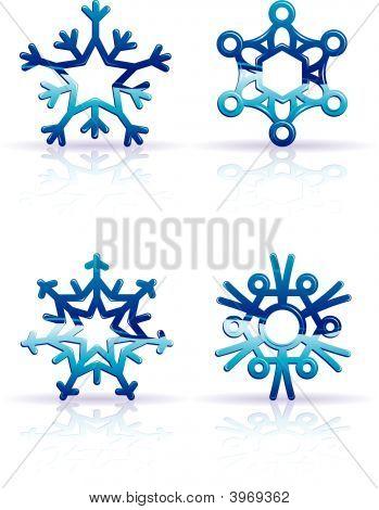 Snowflake_3D_Blue.Eps