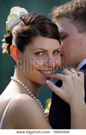 Smiling Bride On Wedding Day
