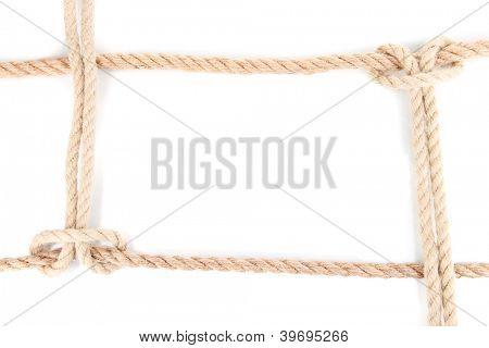 Quadro composto de corda isolada no branco