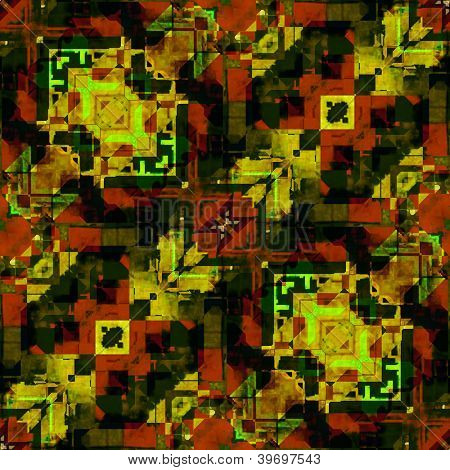 art eastern national traditional pattern in green