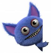 foto of gremlins  - 3 d cartoon cute furry gremlin monster - JPG