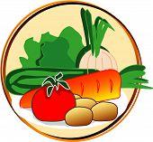 Постер, плакат: Пиктограмма овощи