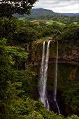 picture of chamarel  - chamarel falls in the isle of mauritius - JPG