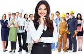foto of secretary  - Business woman and group of workers people - JPG