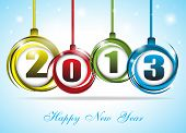 Cute And Colorful Card On New Year 2013