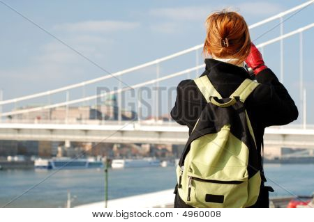 Tourist Taking Picture