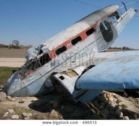Se estrelló avión