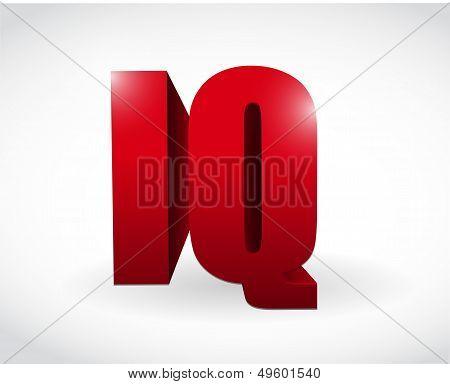 Iq 3D Text Word Illustration Design