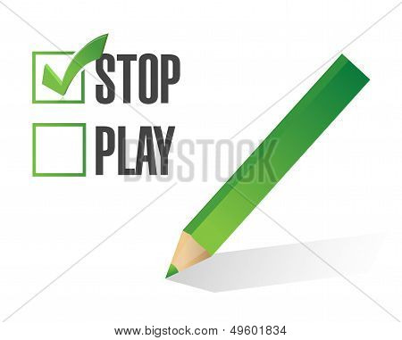 Stop Over Play Selection Illustration Design