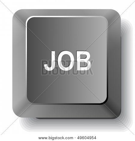 Job. Vector computer key.