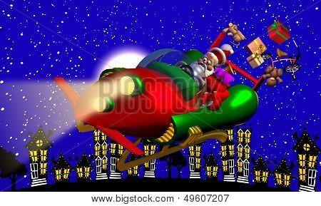 Santa's Rocket Sleigh