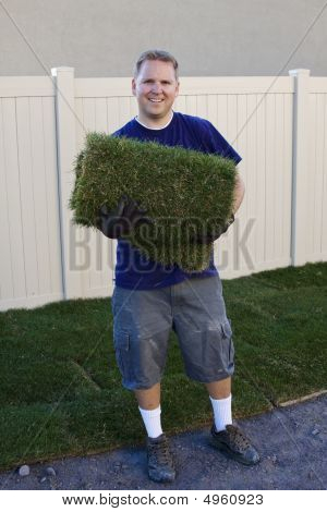 Yard Work (planting New Sod Grass)