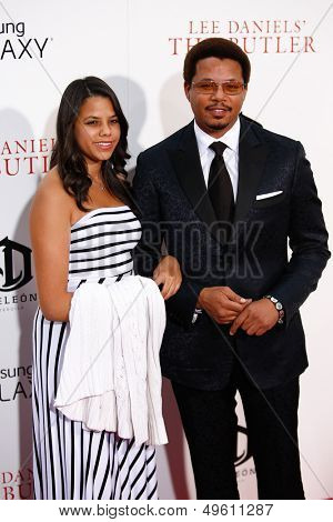 NEW YORK-AUG 5: Heaven Howard and actor Terrence Howard attend the premiere of Lee Daniels'