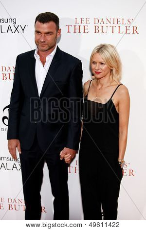 """NEW YORK-AUG 5: Actors Liev Schreiber and Naomi Watts  attend the premiere of Lee Daniels' """"The Butler"""" at the Ziegfeld Theatre on August 5, 2013 in New York City."""