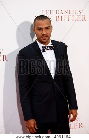 "NEW YORK-AUG 5: Actor Jesse Williams attends the premiere of Lee Daniels' ""The Butler"" at the Ziegfeld Theatre on August 5, 2013 in New York City."