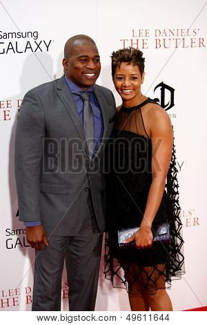 NEW YORK-AUG 5: Rapper and actor David Banner (L) and Tichina Arnold attend the premiere of Lee Daniels'