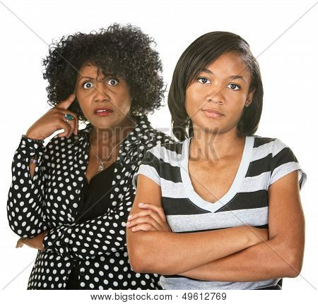 Annoyed Mother And Daughter