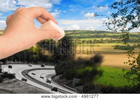 Löschen der Landschaft
