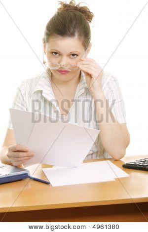 Interrupted Businesswoman