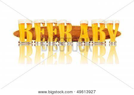 BEER ALPHABET letters BEER ABV