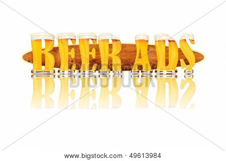BEER ALPHABET letters BEER ADS