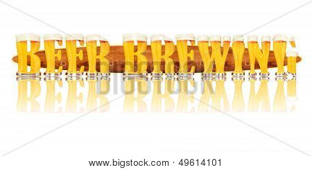 BEER ALPHABET letters BEER BREWING