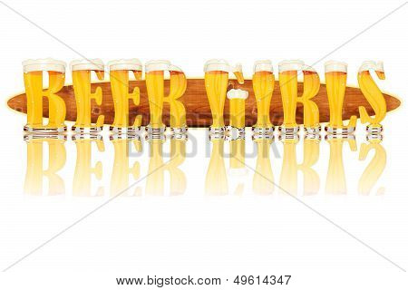 BEER ALPHABET letters BEER GIRLS