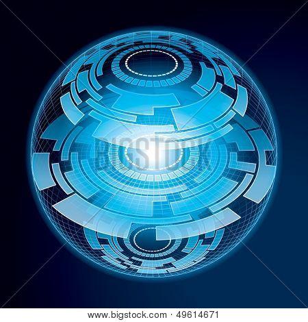 Fantasy Navigation Sphere. Vector Illustration