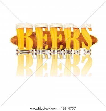 BEER ALPHABET letters BEERS