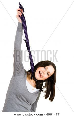 Hanging Woman With Tie
