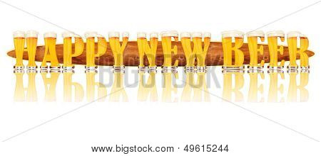 BEER ALPHABET letters HAPPY NEW BEER